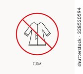 stop or ban sign. cloak icon.... | Shutterstock .eps vector #328520594