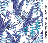 tropical flower seamless... | Shutterstock .eps vector #328525304