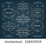 vector set of calligraphic... | Shutterstock .eps vector #328529939