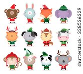 vector collection of cute... | Shutterstock .eps vector #328536329