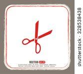 vector illustration of scissors  | Shutterstock .eps vector #328538438