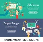 creative process horizontal... | Shutterstock .eps vector #328539878