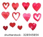 watercolor paint aquarelle hand ... | Shutterstock . vector #328545854