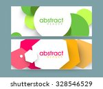Stock vector creative colorful abstract website header or banner set for your business 328546529