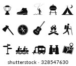 black camping icons set | Shutterstock .eps vector #328547630