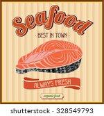seafood. fresh fish. vintage... | Shutterstock .eps vector #328549793