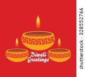 creative diwali greetings...   Shutterstock .eps vector #328552766