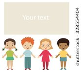 kids banner. happy children... | Shutterstock .eps vector #328554404