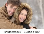 couple smiling with perfect... | Shutterstock . vector #328555400