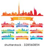 colorful city skyline the