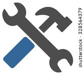 hammer and wrench vector icon.... | Shutterstock .eps vector #328564379