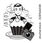 retro party design  vector...   Shutterstock .eps vector #328566038