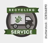 recycling transport design ... | Shutterstock .eps vector #328566890