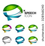set of abstract speech bubble... | Shutterstock . vector #328568240