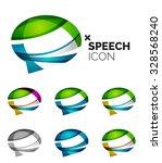 set of abstract speech bubble... | Shutterstock . vector #328568240