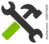 hammer and wrench vector icon.... | Shutterstock .eps vector #328570409