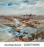 Snowy Landscape  Oil Painting...