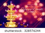 illustration of golden diya... | Shutterstock .eps vector #328576244