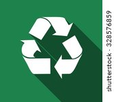 Recycle Flat Icon With Long...