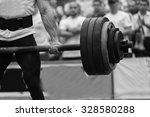 strength training with barbell. ... | Shutterstock . vector #328580288
