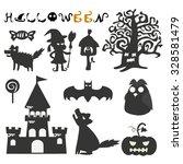halloween elements | Shutterstock .eps vector #328581479
