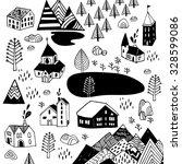 scandinavian style. vector... | Shutterstock .eps vector #328599086