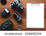 white paper board and... | Shutterstock . vector #328600244