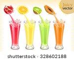 fresh fruit juice | Shutterstock .eps vector #328602188
