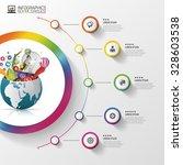 infographic design template.... | Shutterstock .eps vector #328603538