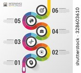 business timeline infographic... | Shutterstock .eps vector #328603610