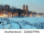 Central Park Winter At Night...
