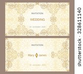 vector decorative frame.... | Shutterstock .eps vector #328611140