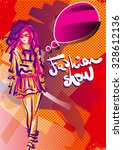 fashion show poster | Shutterstock .eps vector #328612136