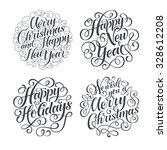 vector christmas set of... | Shutterstock .eps vector #328612208