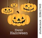 happy halloween wallpaper ... | Shutterstock .eps vector #328617443