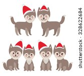 new year's and christmas funny...   Shutterstock .eps vector #328622684