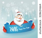 santa wishes all a happy new... | Shutterstock .eps vector #328624664