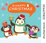 vintage christmas poster design | Shutterstock .eps vector #328629920