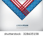 usa flag background design with ... | Shutterstock .eps vector #328635158