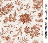 vector seamless vintage pattern.... | Shutterstock .eps vector #328638740