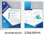 vector brochure flyer design... | Shutterstock .eps vector #328638944