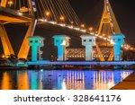 bhumibol bridge  bangkok ... | Shutterstock . vector #328641176