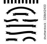 set of simple monochrome... | Shutterstock .eps vector #328642433