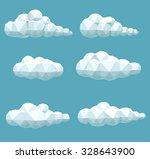 vector set of volumetric low... | Shutterstock .eps vector #328643900