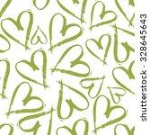 Green Hearts Pattern