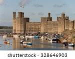 Caernarfon Castle In Wales Wit...