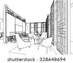 interior outline sketch drawing ... | Shutterstock .eps vector #328648694