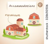 accommodations   farmhouse  ... | Shutterstock .eps vector #328650506