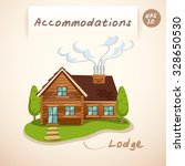 accommodations   lodge   vector ...   Shutterstock .eps vector #328650530