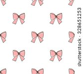 seamless pattern with bows on a ... | Shutterstock .eps vector #328651253